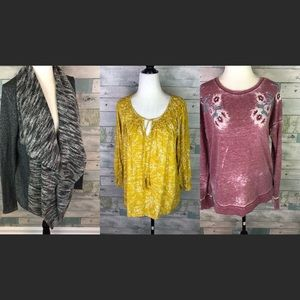3 Lucky Brand tops all size small